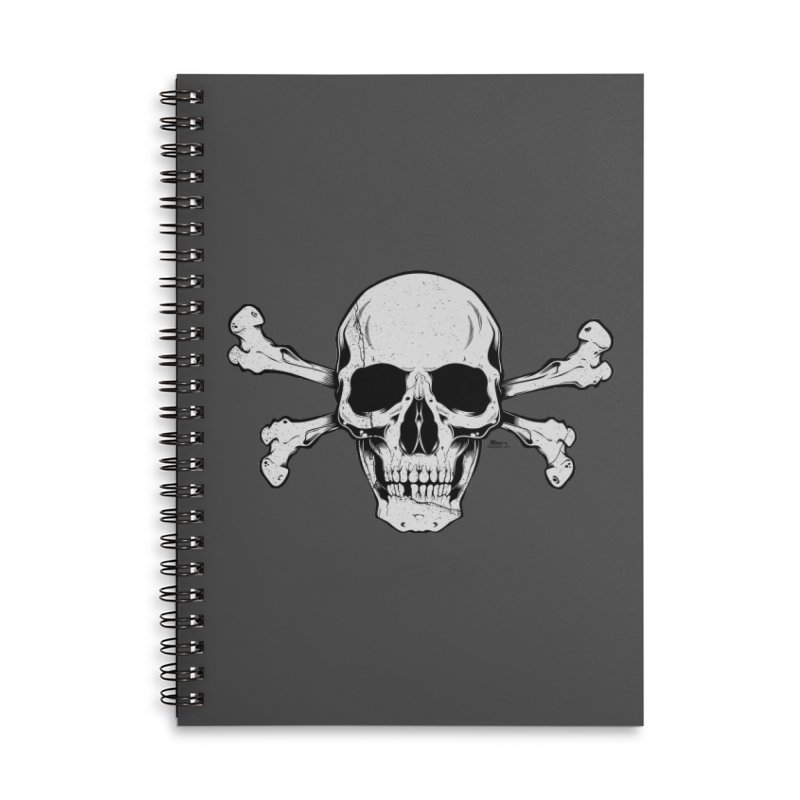 Crossbones Accessories Lined Spiral Notebook by EngineHouse13's Artist Shop
