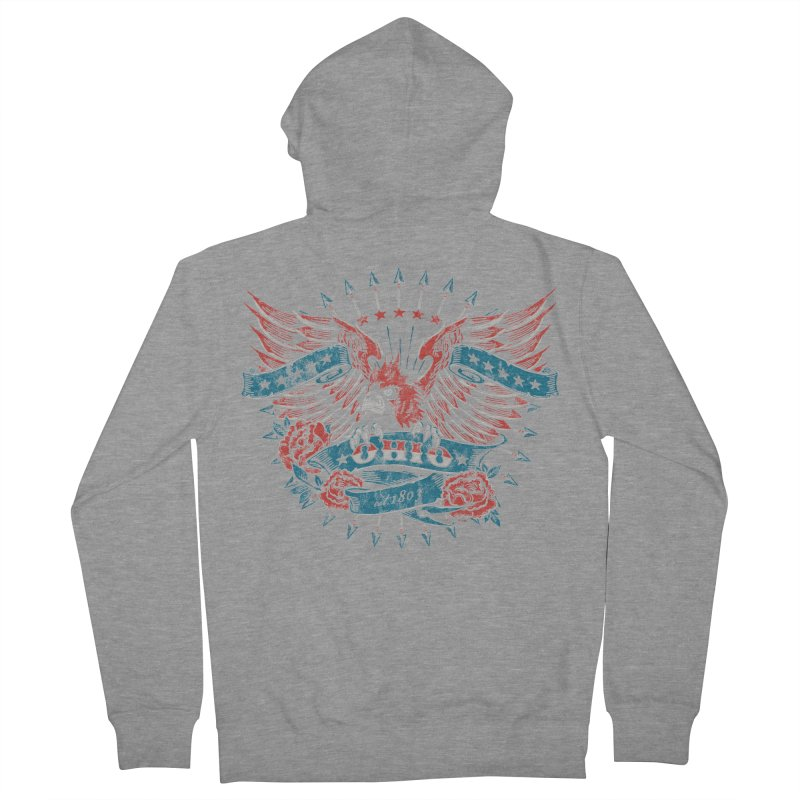 Ohio Proud Women's French Terry Zip-Up Hoody by EngineHouse13's Artist Shop