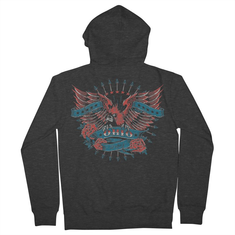 Ohio Proud Men's French Terry Zip-Up Hoody by EngineHouse13's Artist Shop