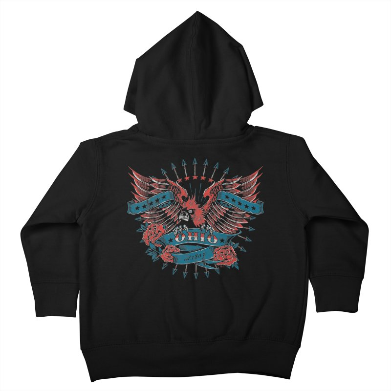 Ohio Proud Kids Toddler Zip-Up Hoody by EngineHouse13's Artist Shop