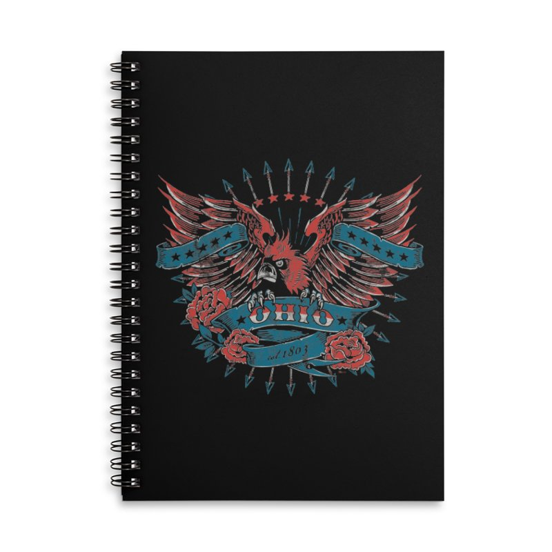 Ohio Proud Accessories Lined Spiral Notebook by EngineHouse13's Artist Shop