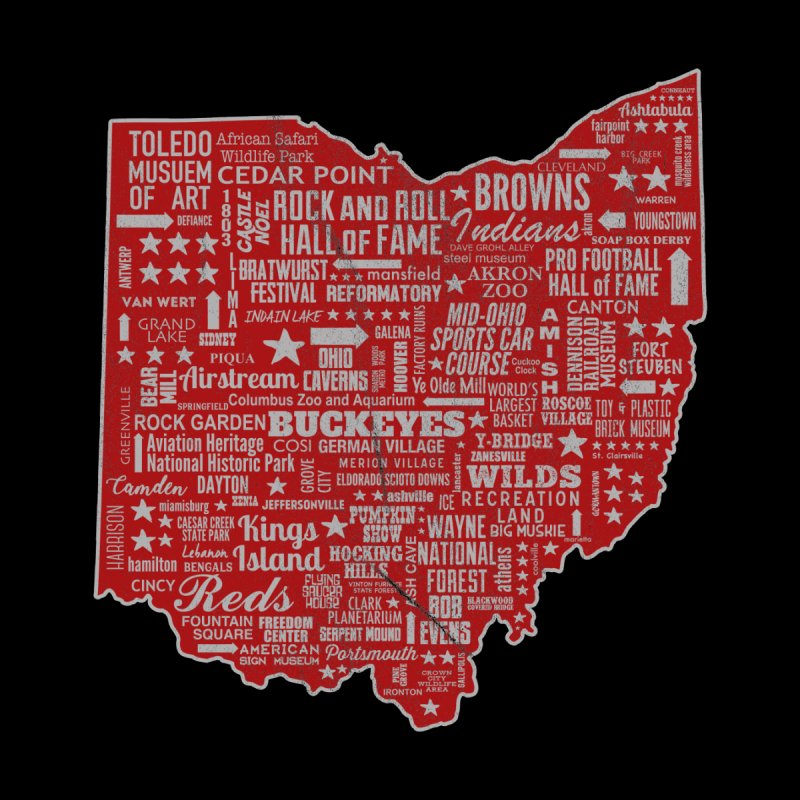Ohio Destinations Men's Tank by EngineHouse13's Artist Shop