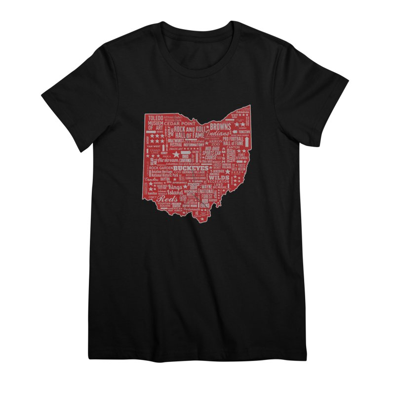 Ohio Destinations Women's Premium T-Shirt by EngineHouse13's Artist Shop