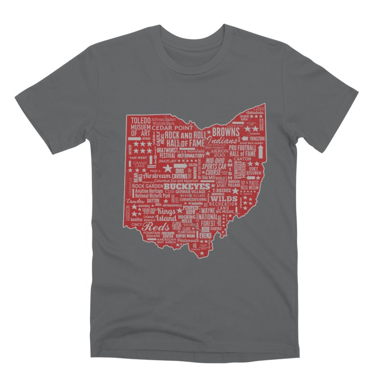 Ohio Destinations Men's Premium T-Shirt by EngineHouse13's Artist Shop