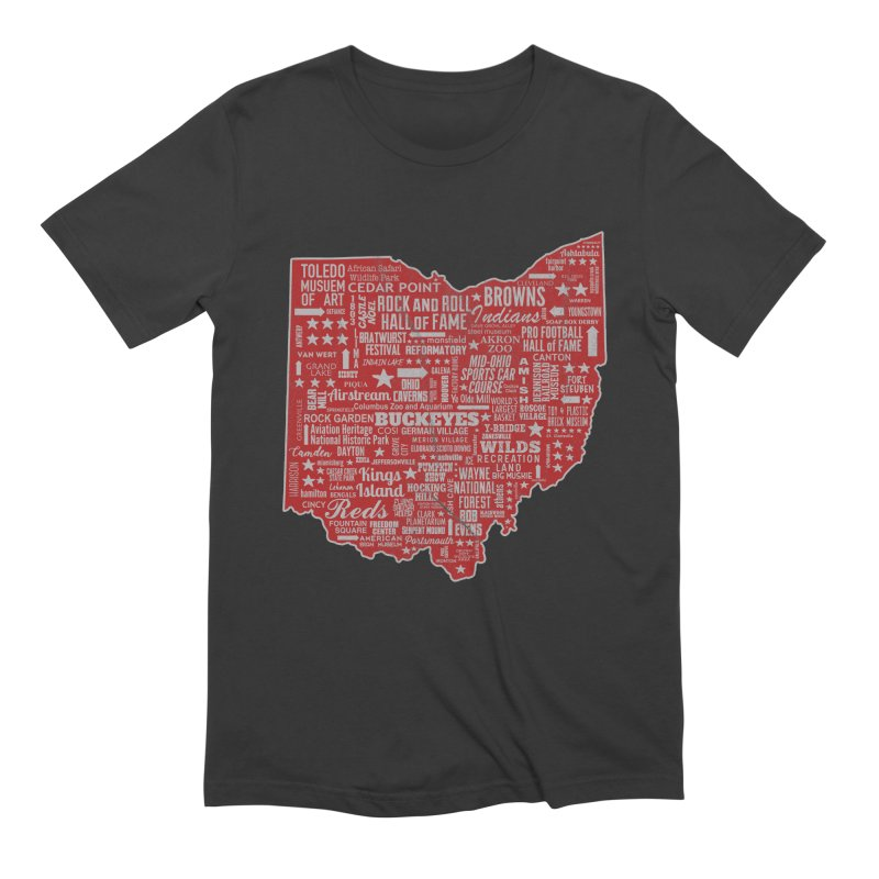 Ohio Destinations Men's Extra Soft T-Shirt by EngineHouse13's Artist Shop