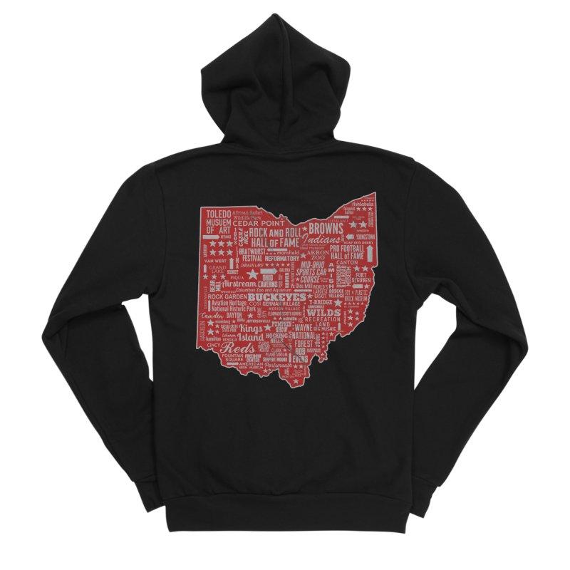 Ohio Destinations Women's Sponge Fleece Zip-Up Hoody by EngineHouse13's Artist Shop