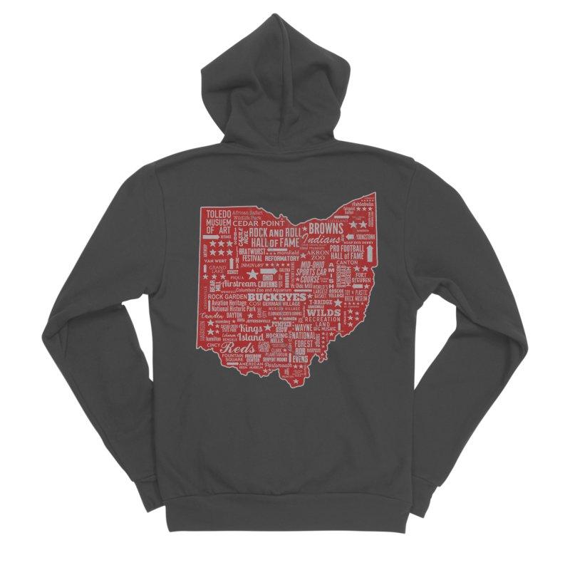 Ohio Destinations Women's Sponge Fleece Zip-Up Hoody by EngineHouse13's Artist Shop