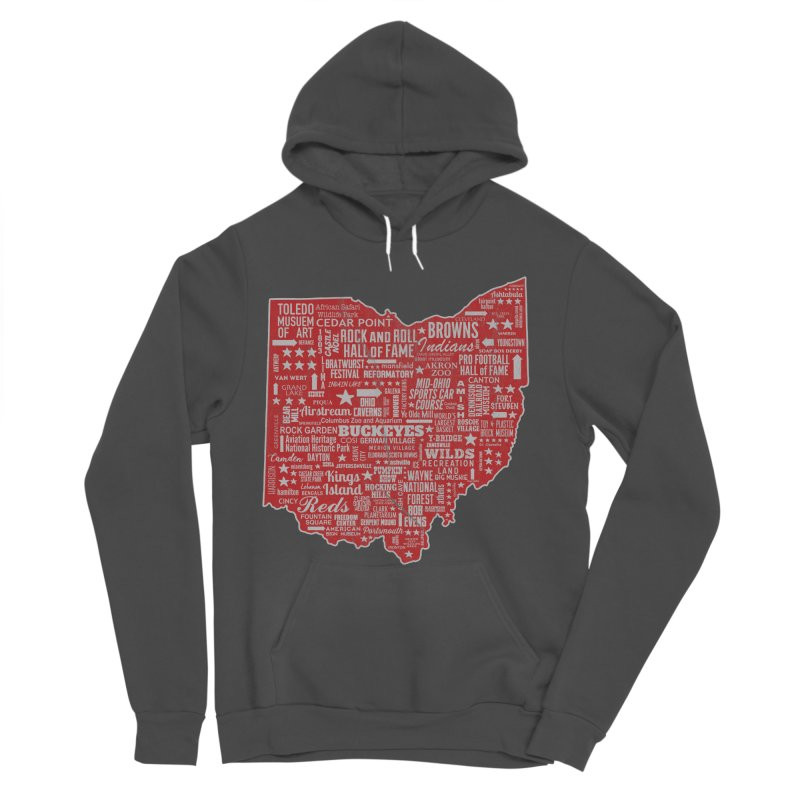 Ohio Destinations Women's Sponge Fleece Pullover Hoody by EngineHouse13's Artist Shop