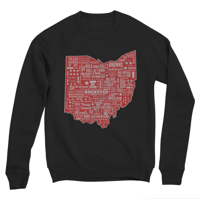 Ohio Destinations Men's Sponge Fleece Sweatshirt by EngineHouse13's Artist Shop