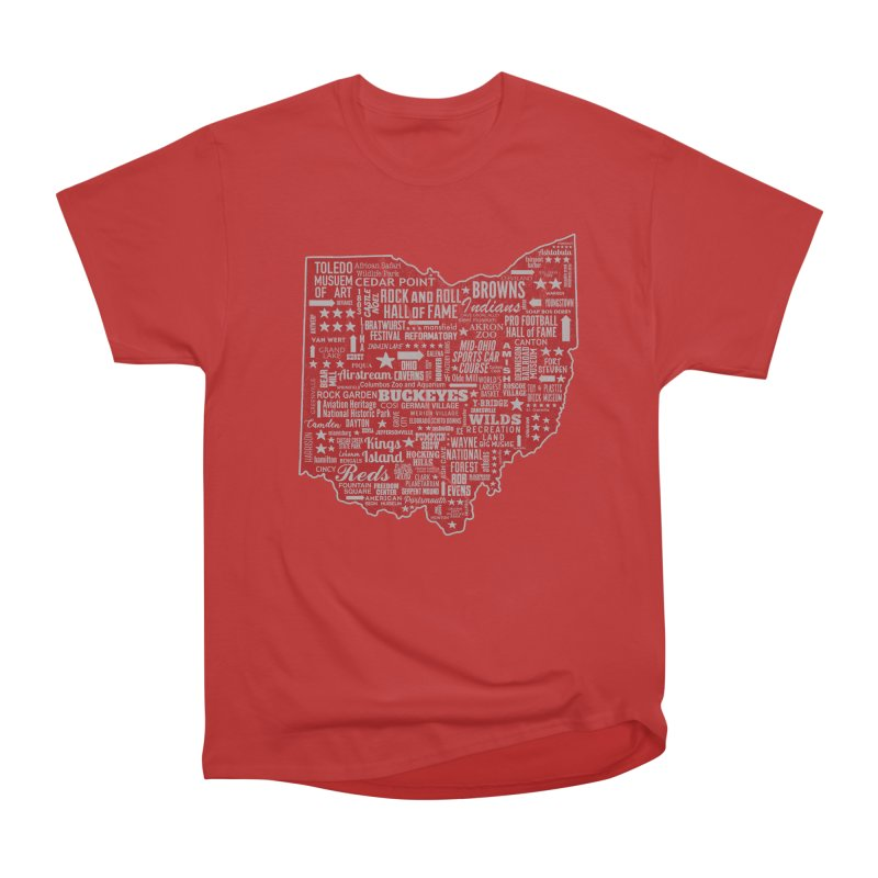 Ohio Destinations Men's Heavyweight T-Shirt by EngineHouse13's Artist Shop