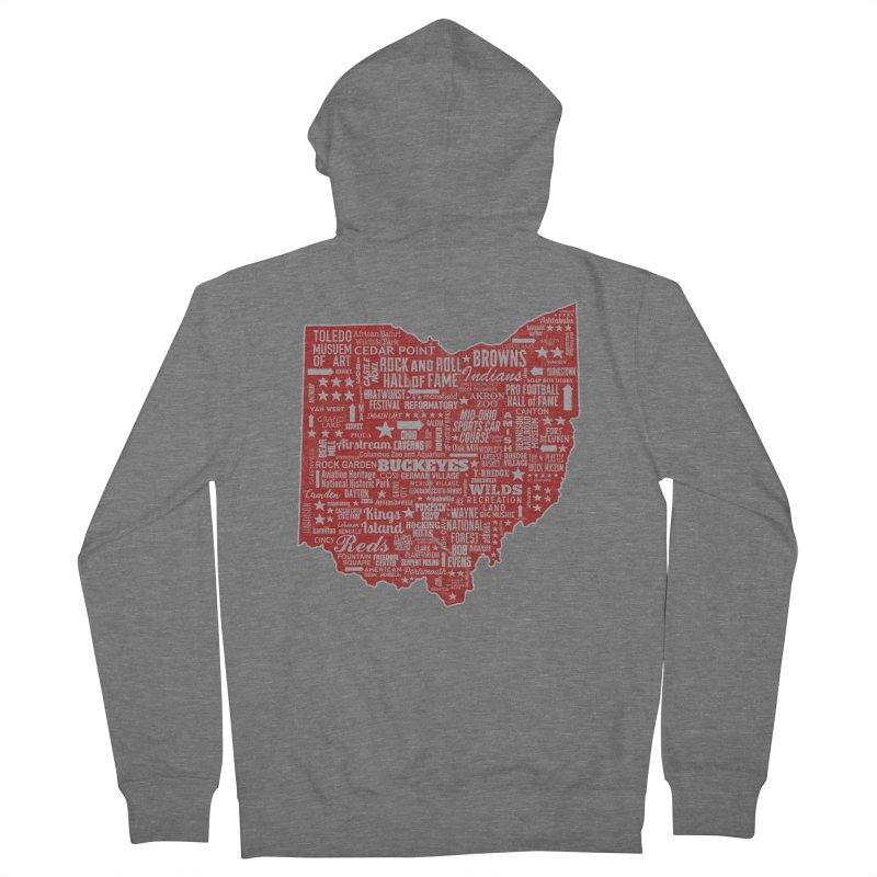 Ohio Destinations Men's Zip-Up Hoody by EngineHouse13's Artist Shop