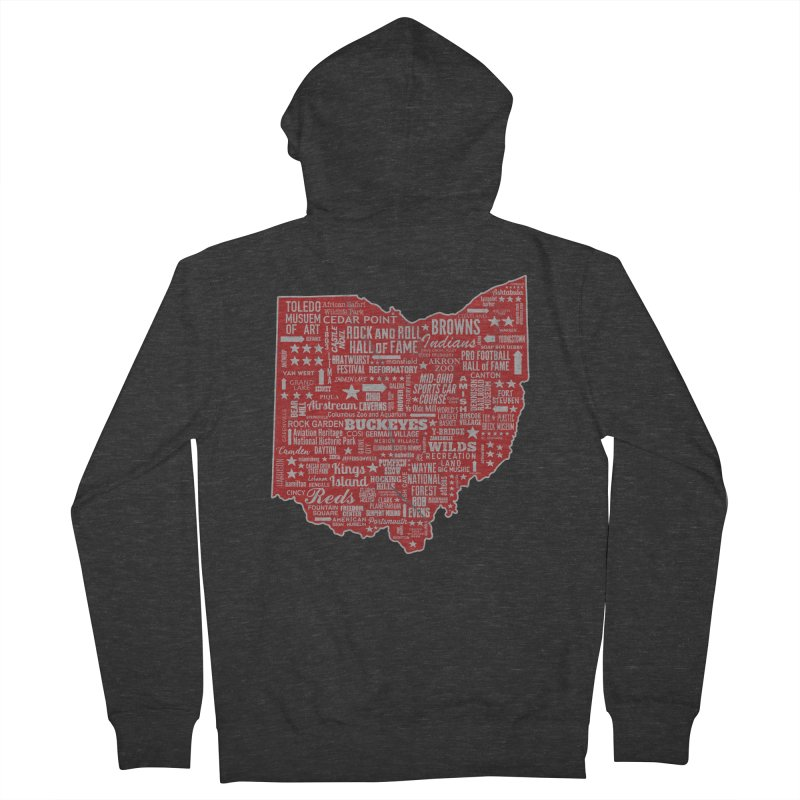 Ohio Destinations Men's French Terry Zip-Up Hoody by EngineHouse13's Artist Shop