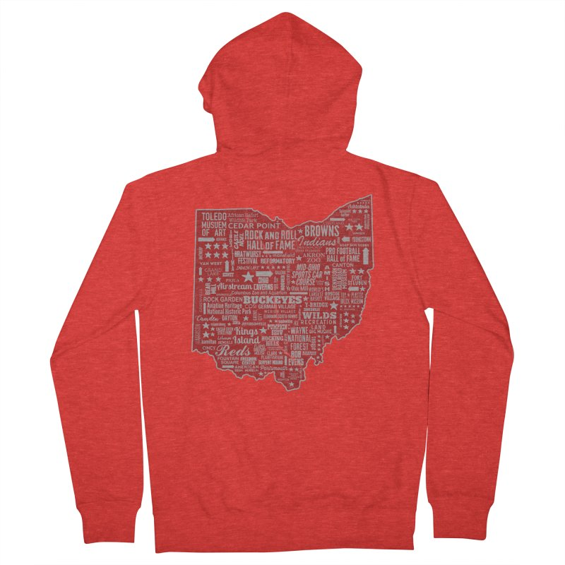 Ohio Destinations Men's Zip-Up Hoody by EngineHouse13's Artist Shop