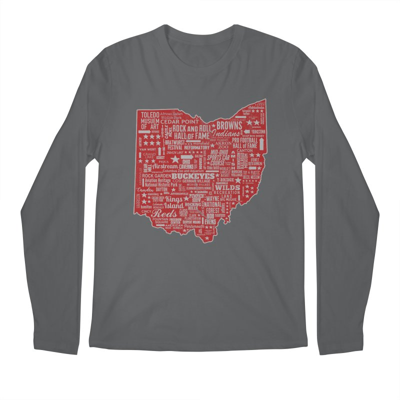 Ohio Destinations Men's Longsleeve T-Shirt by EngineHouse13's Artist Shop