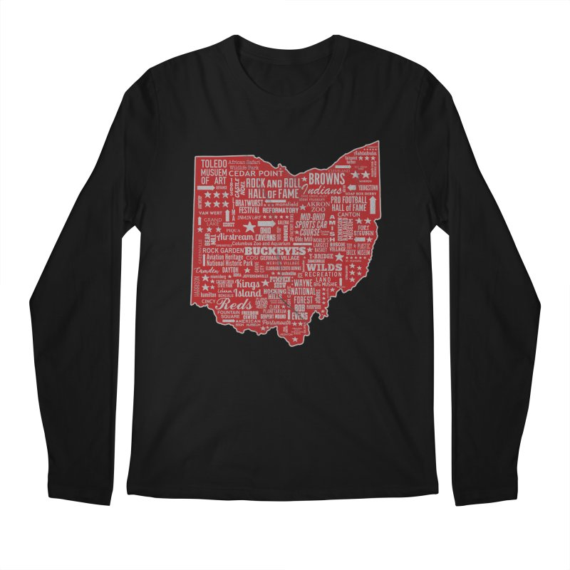 Ohio Destinations Men's Regular Longsleeve T-Shirt by EngineHouse13's Artist Shop