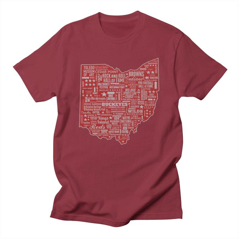 Ohio Destinations Men's T-Shirt by EngineHouse13's Artist Shop