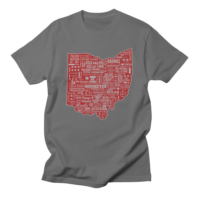 Ohio Destinations Men's Regular T-Shirt by EngineHouse13's Artist Shop
