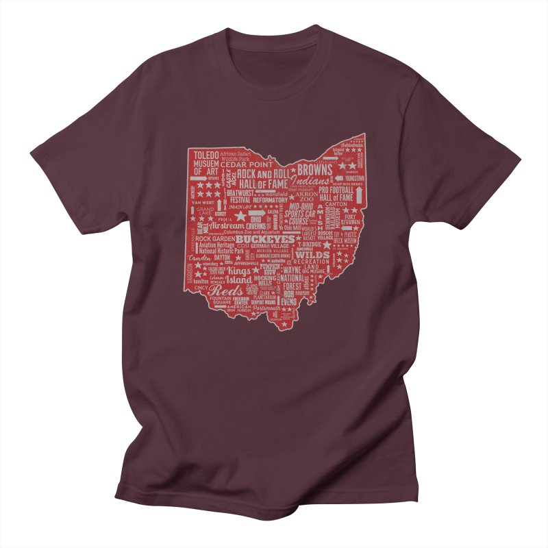 Ohio Destinations Women's Regular Unisex T-Shirt by EngineHouse13's Artist Shop
