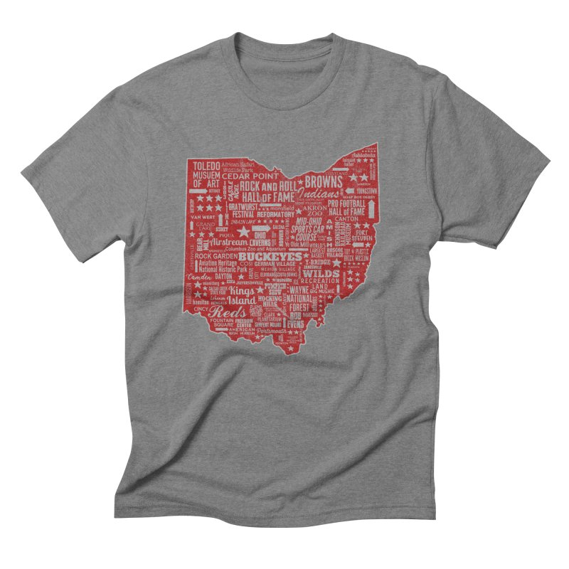 Ohio Destinations Men's Triblend T-Shirt by EngineHouse13's Artist Shop