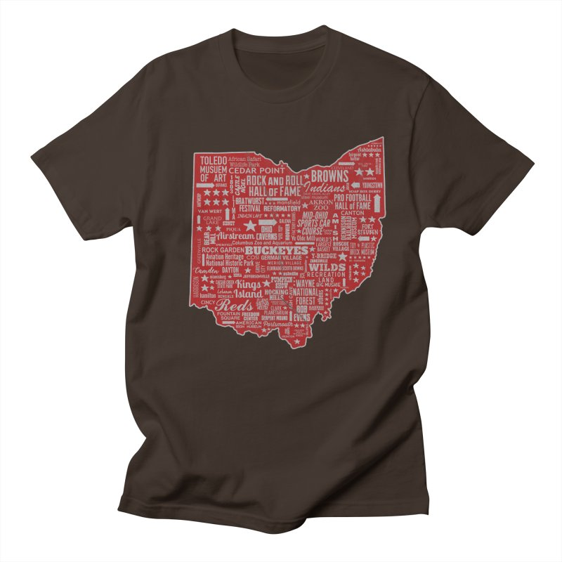 Ohio Destinations Men's Regular T-Shirt by EngineHouse13's Artist Shop