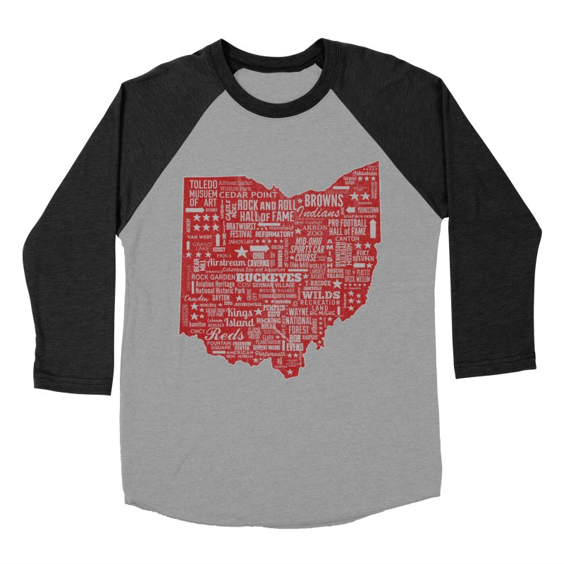 Ohio Destinations Women's Baseball Triblend Longsleeve T-Shirt by EngineHouse13's Artist Shop