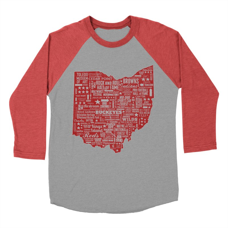 Ohio Destinations Men's Baseball Triblend Longsleeve T-Shirt by EngineHouse13's Artist Shop