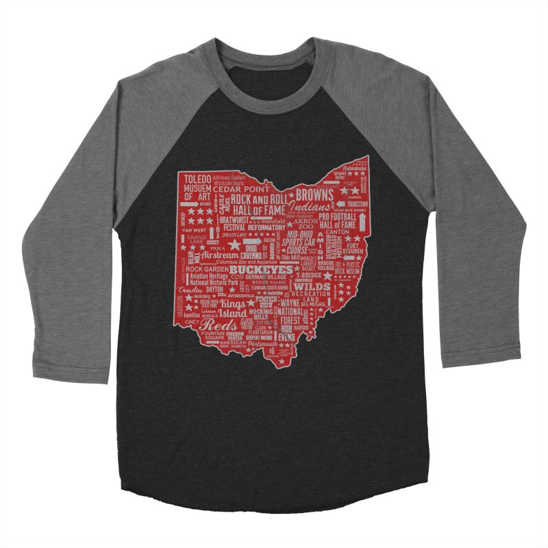 Ohio Destinations Men's Baseball Triblend Longsleeve T-Shirt by EngineHouse13's Artist Shop