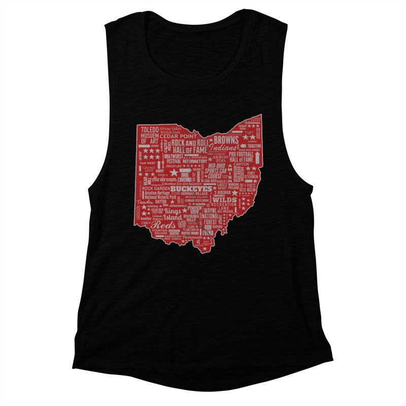 Ohio Destinations Women's Muscle Tank by EngineHouse13's Artist Shop