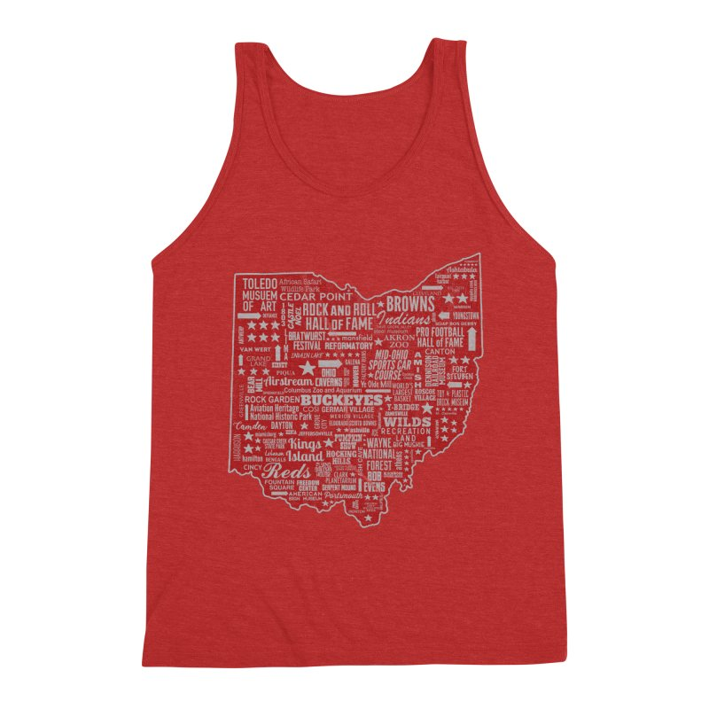 Ohio Destinations Men's Triblend Tank by EngineHouse13's Artist Shop