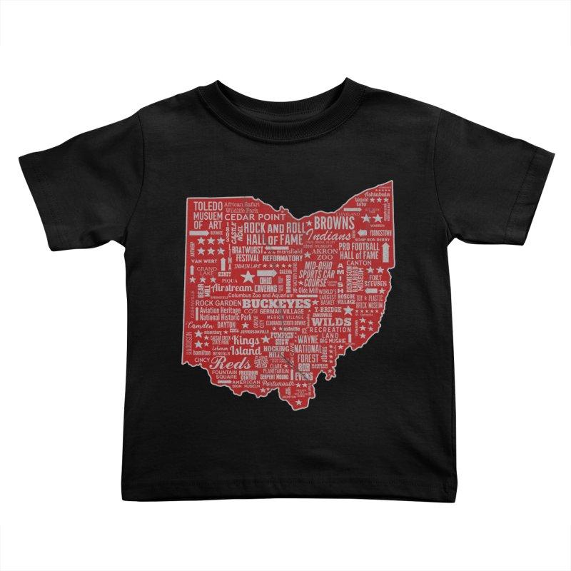 Ohio Destinations Kids Toddler T-Shirt by EngineHouse13's Artist Shop