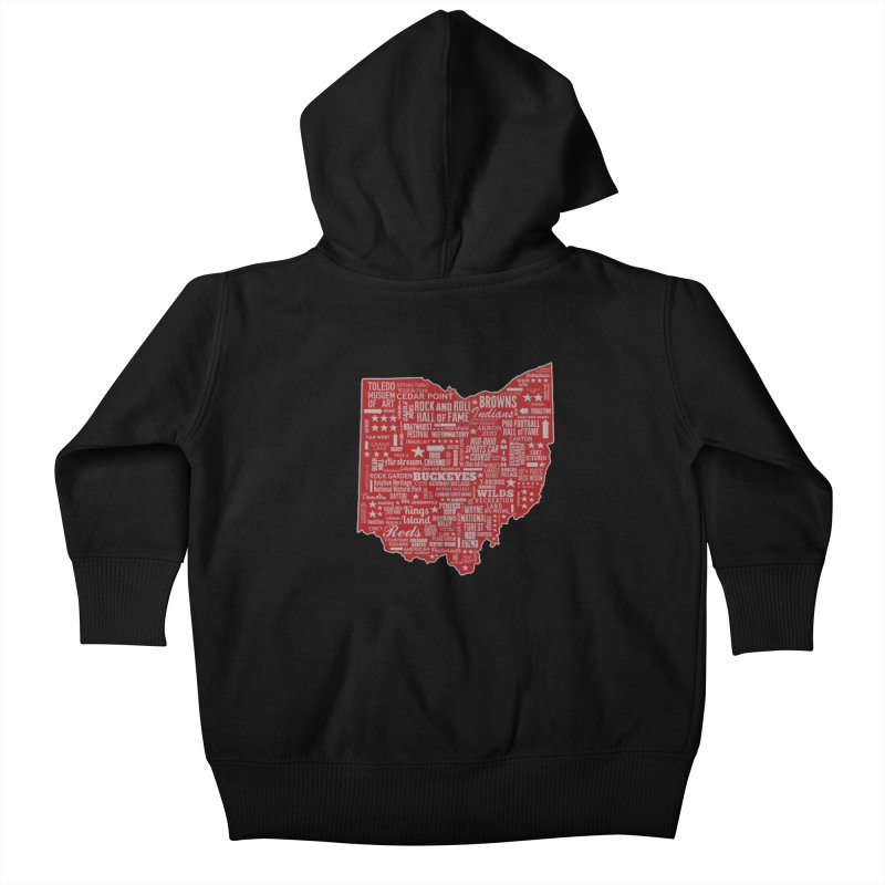 Ohio Destinations Kids Baby Zip-Up Hoody by EngineHouse13's Artist Shop