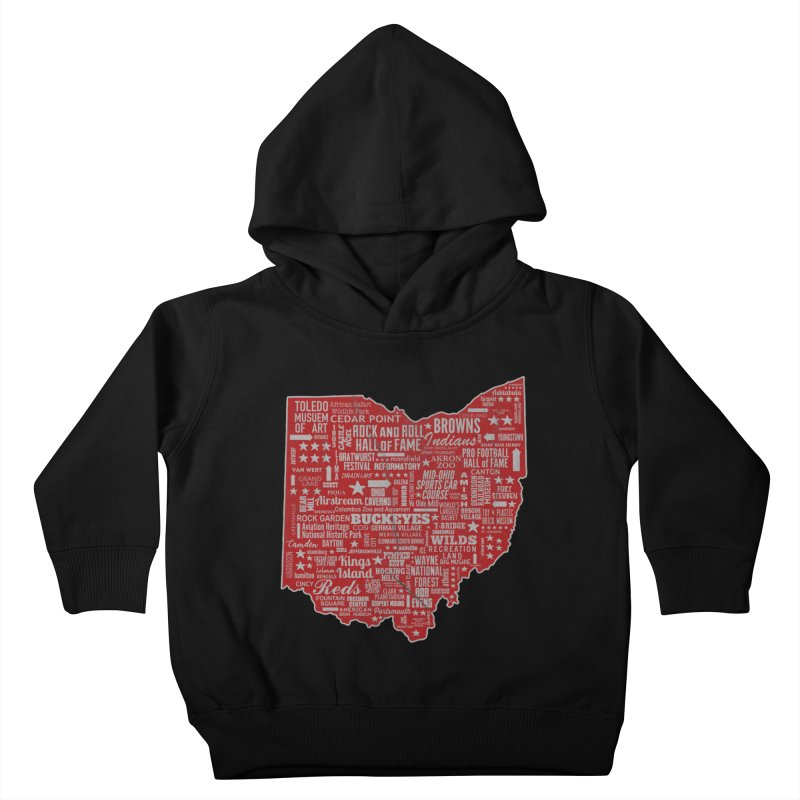 Ohio Destinations Kids Toddler Pullover Hoody by EngineHouse13's Artist Shop