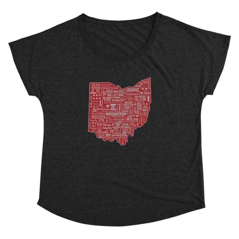 Ohio Destinations Women's Dolman Scoop Neck by EngineHouse13's Artist Shop