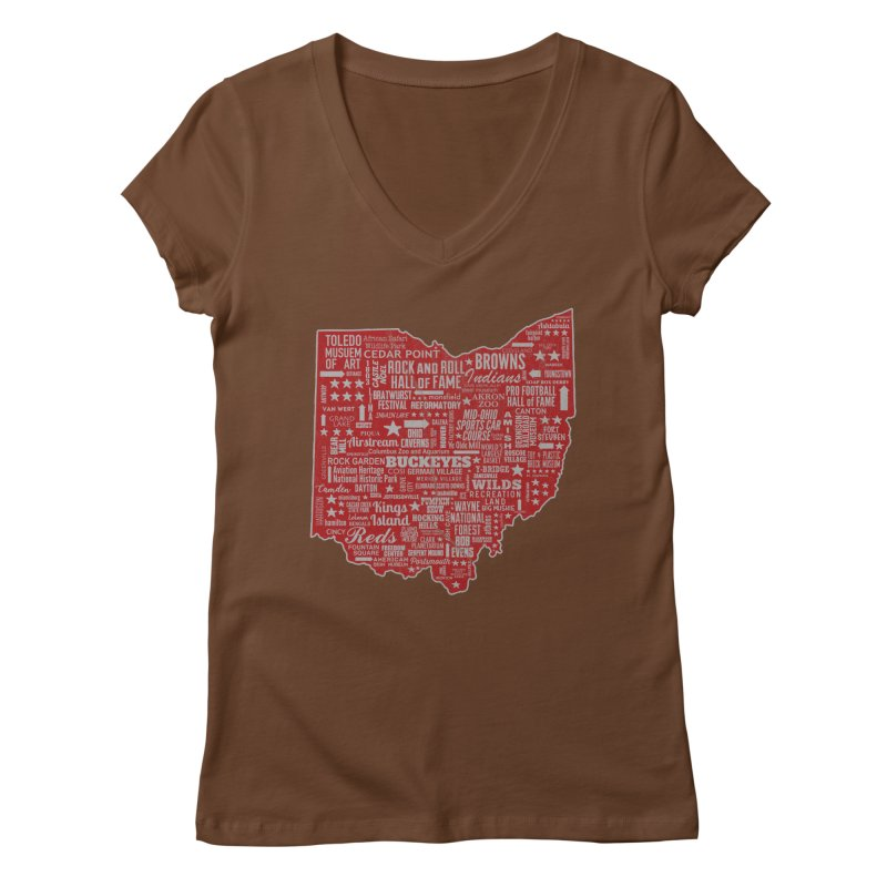 Ohio Destinations Women's Regular V-Neck by EngineHouse13's Artist Shop