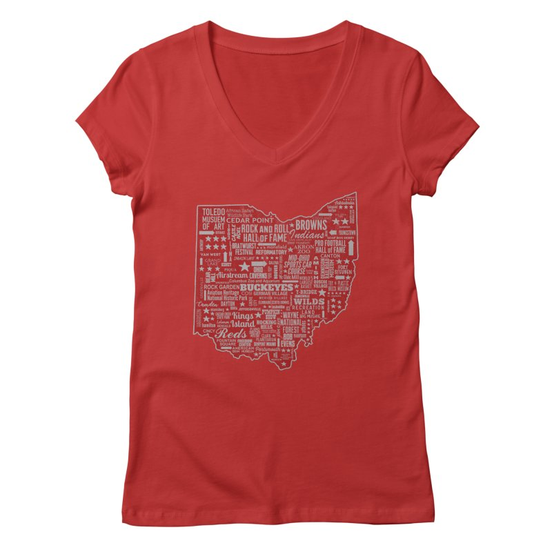 Ohio Destinations Women's V-Neck by EngineHouse13's Artist Shop