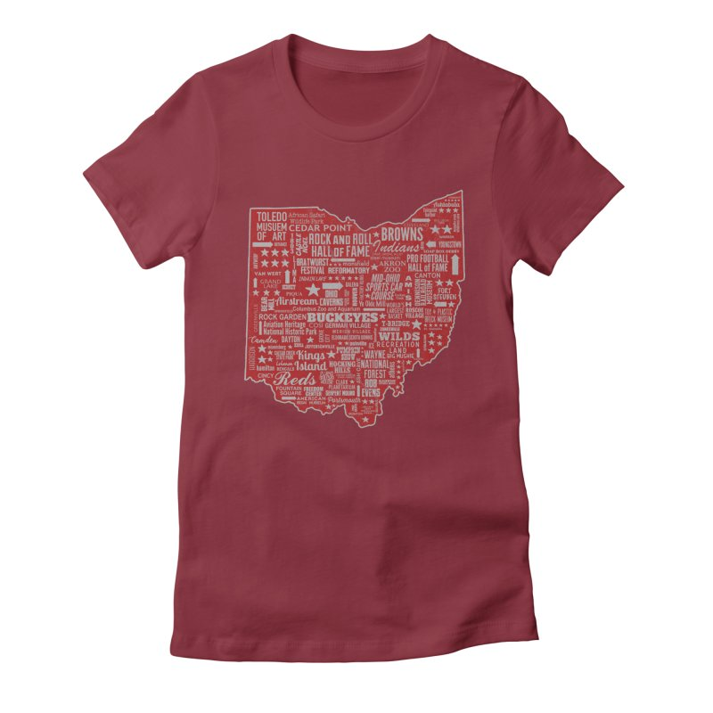 Ohio Destinations Women's Fitted T-Shirt by EngineHouse13's Artist Shop