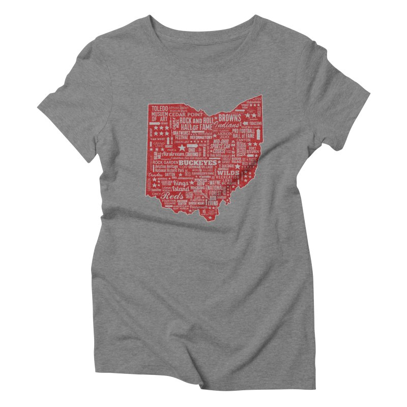 Ohio Destinations Women's Triblend T-Shirt by EngineHouse13's Artist Shop