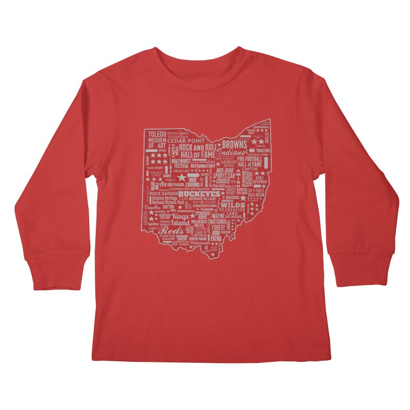 Ohio Destinations Kids Longsleeve T-Shirt by EngineHouse13's Artist Shop