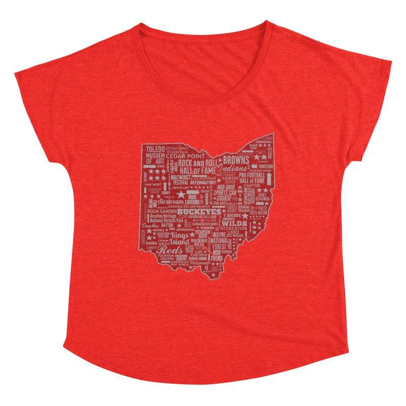 Ohio Destinations Women's Scoop Neck by EngineHouse13's Artist Shop