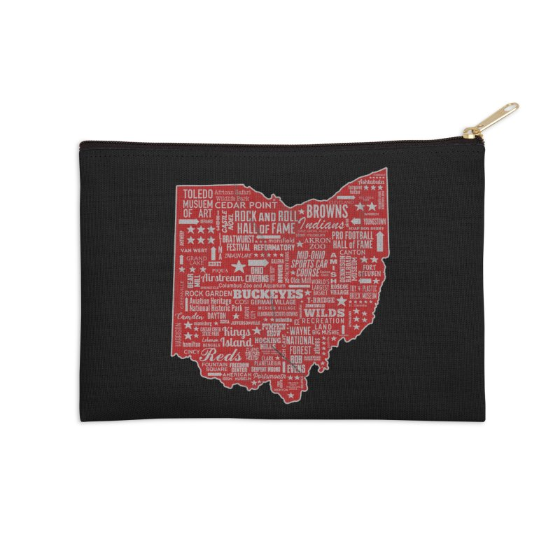 Ohio Destinations Accessories Zip Pouch by EngineHouse13's Artist Shop