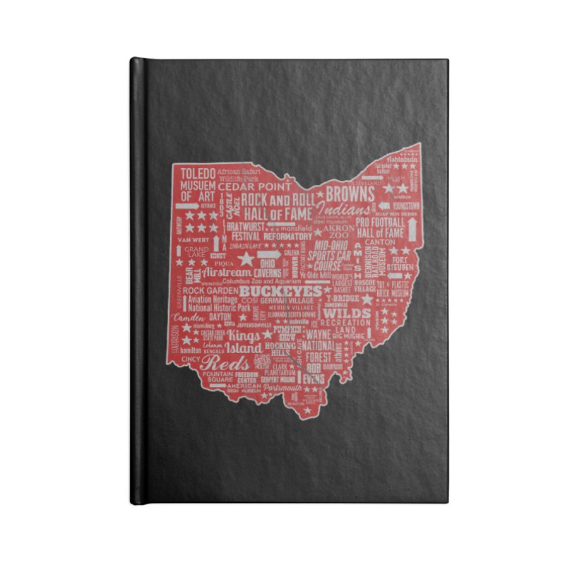 Ohio Destinations Accessories Lined Journal Notebook by EngineHouse13's Artist Shop