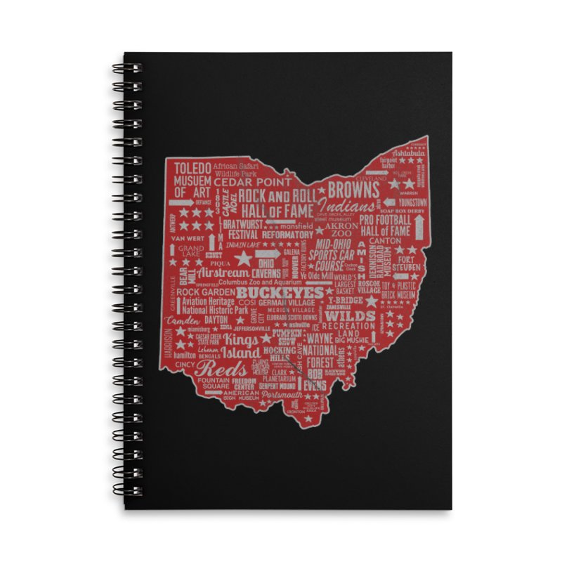 Ohio Destinations Accessories Lined Spiral Notebook by EngineHouse13's Artist Shop