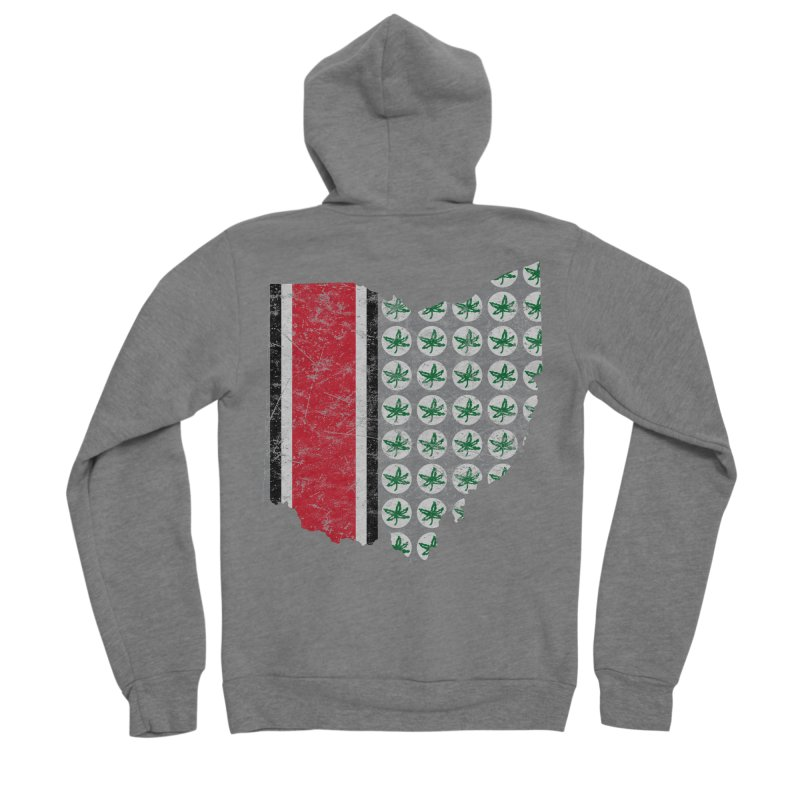 Go Bucks! Men's Sponge Fleece Zip-Up Hoody by EngineHouse13's Artist Shop