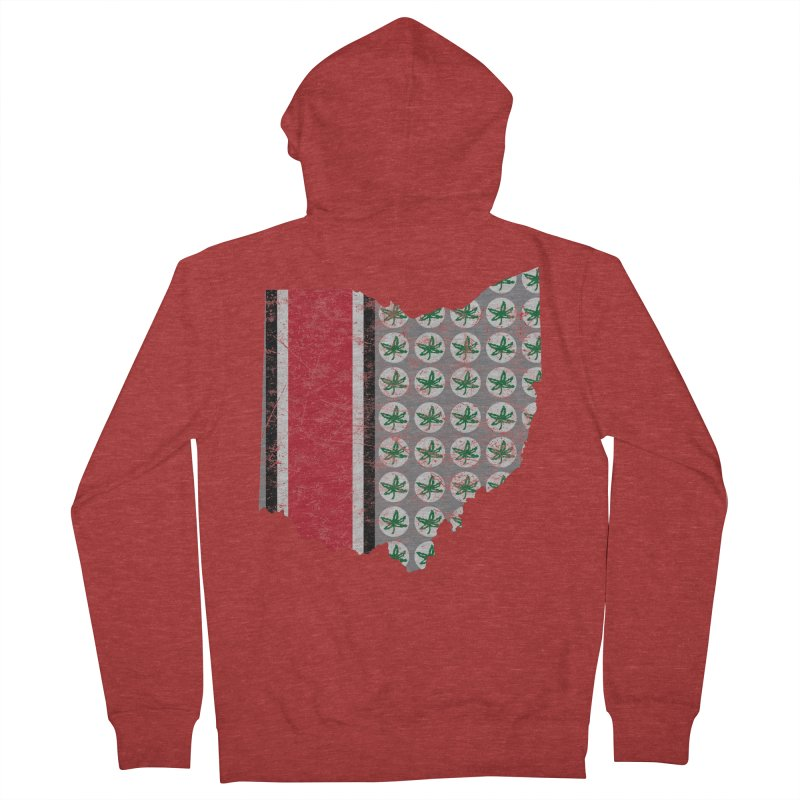 Go Bucks! Men's French Terry Zip-Up Hoody by EngineHouse13's Artist Shop
