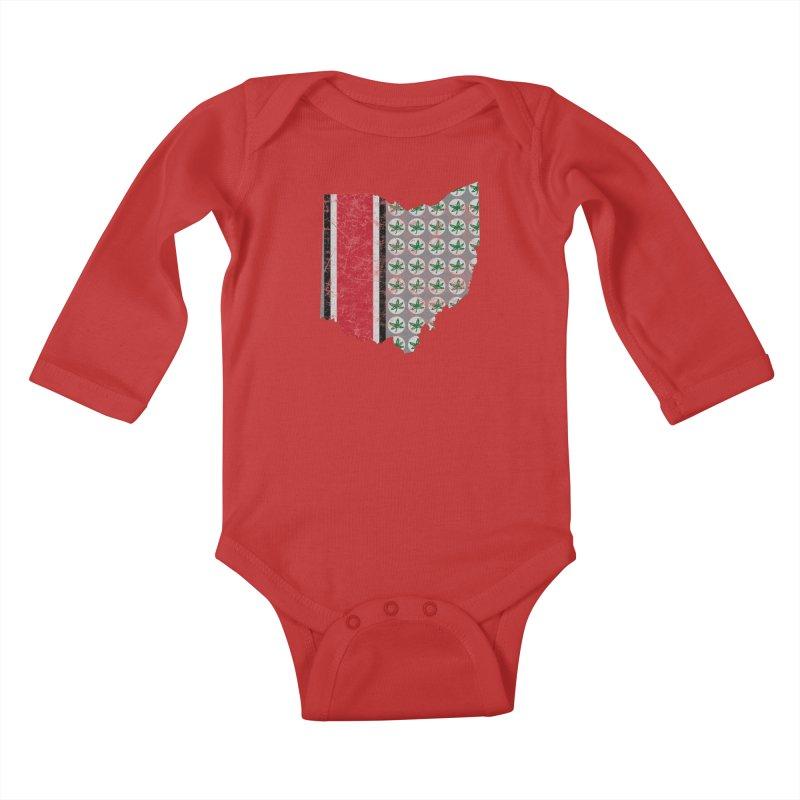 Go Bucks! Kids Baby Longsleeve Bodysuit by EngineHouse13's Artist Shop
