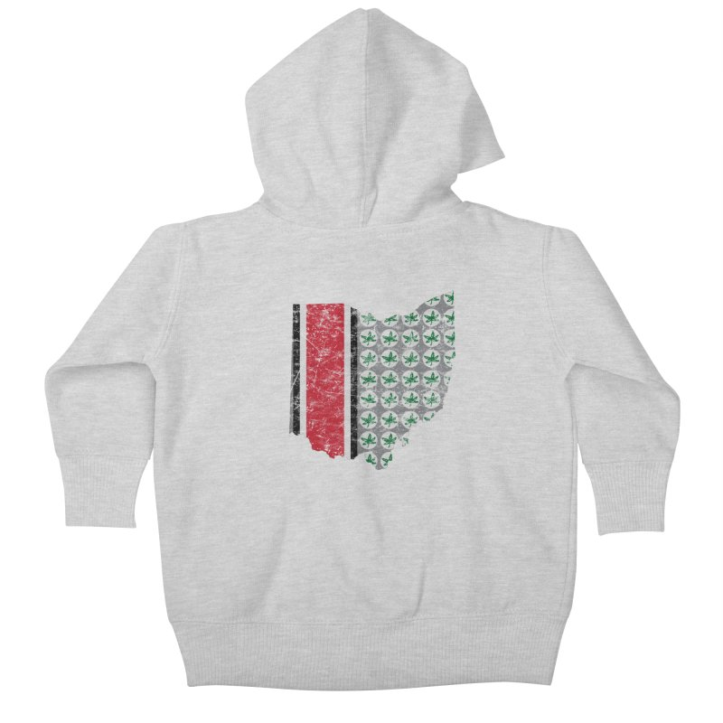 Go Bucks! Kids Baby Zip-Up Hoody by EngineHouse13's Artist Shop