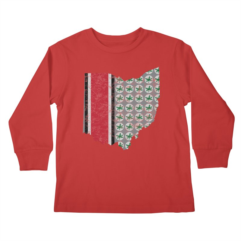 Go Bucks! Kids Longsleeve T-Shirt by EngineHouse13's Artist Shop