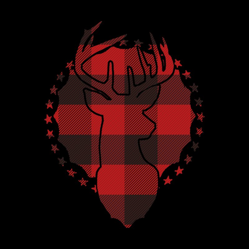 Plaid Deer Men's Zip-Up Hoody by EngineHouse13's Artist Shop