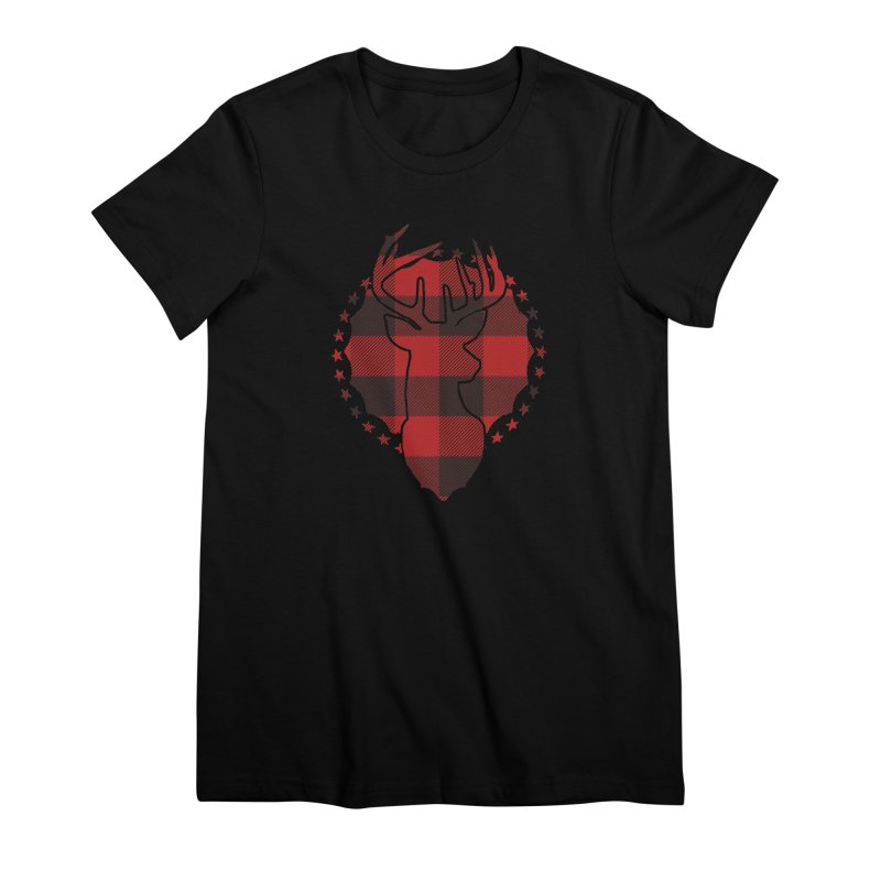 Plaid Deer Women's Premium T-Shirt by EngineHouse13's Artist Shop