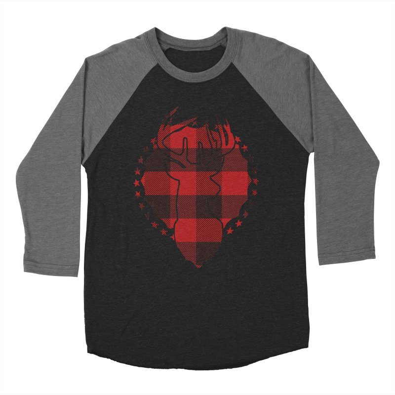 Plaid Deer Women's Longsleeve T-Shirt by EngineHouse13's Artist Shop